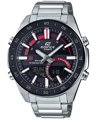 Montre Casio Watch pour homme avec cadran noir et rouge 2