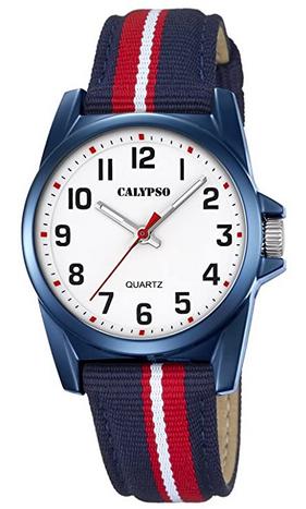 Montre analogique Calypso avec bracelet bicolore en nylon