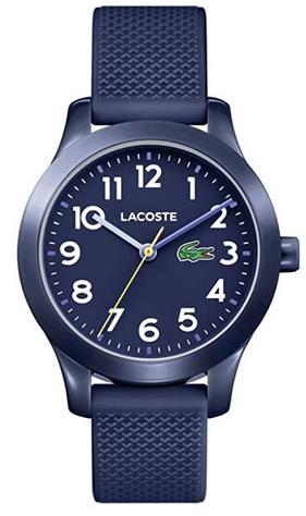 Montre analogique classique pour ado avec bracelet en silicone bleu Lacoste