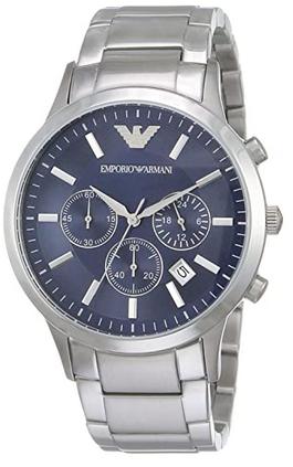 Montre chronographe masculine Emporio Armani avec bracelet en acier