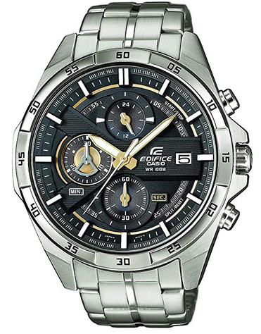 Montre chronographe masculine signee Casio Edifice avec bracelet en acier inoxydable