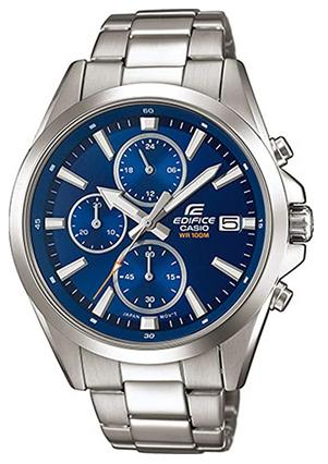 Montre chronographe pour homme Casio Edifice avec bracelet en acier