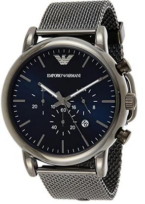 Montre chronographe pour homme Emporio Armani avec bracelet en maille