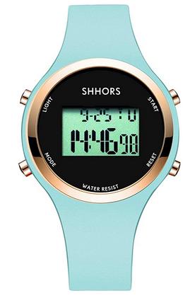 Montre de sport pour fille avec bracelet bleu de la marque Shhors