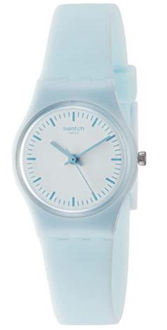 Montre digitale a quartz avec bracelet en silicone bleu par Swatch