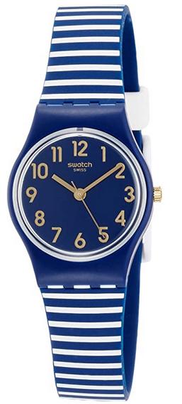 Montre digitale a quartz pour enfant avec bracelet bleu et blanc de Swatch