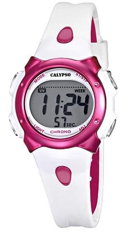 Montre digitale pour fille avec bracelet blanc de la marque Calypso
