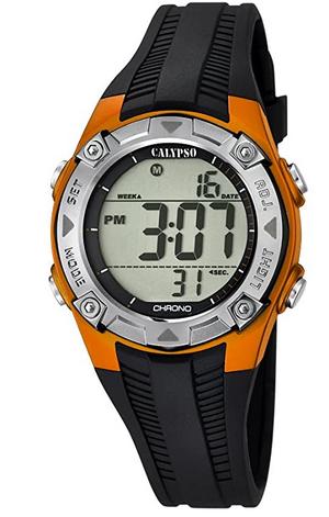 Montre digitale pour garcon avec bracelet en silicone noir de Calypso