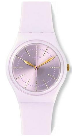 Montre digitale quartz pour fille avec bracelet en silicone blanc de Swatch
