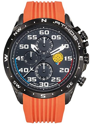Montre masculine Patrouille de France avec bracelet en silicone orange