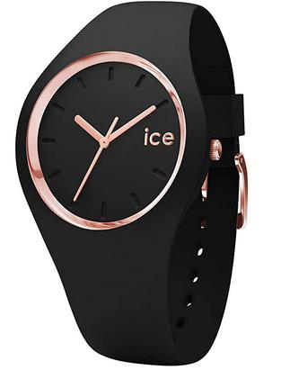 Montre pour ado fille avec bracelet noir et cadran rose de Ice Watch