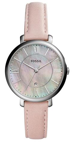 Montre pour adolescente avec bracelet en cuir rose signee Fossil