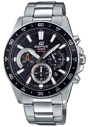 Montre pour homme Casio Edifice avec cadran noir et bracelet en acier 1