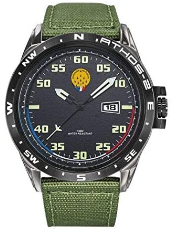 Montre pour homme Patrouille de France avec bracelet en nylon vert