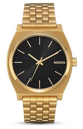 Montre pour homme doree Nixon avec cadran noir