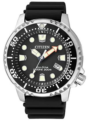 Montre sportive pour homme Citizen avec bracelet noir en caoutchouc