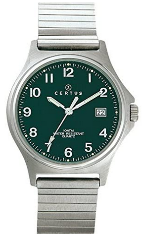 Montre vintage pour homme Certus avec cadran vert