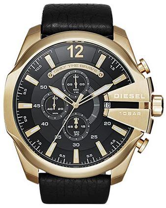 chronographe dore et noir pour homme de Diesel