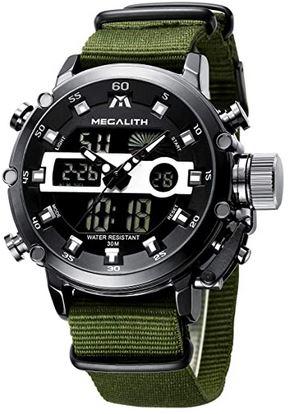 chronographe militaire avec bracelet en nylon resistant de la marque Megalith