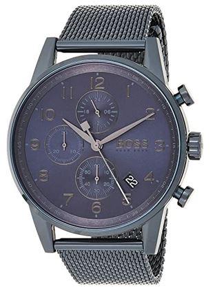 chronographe sombre montre pour homme de Hugo Boss