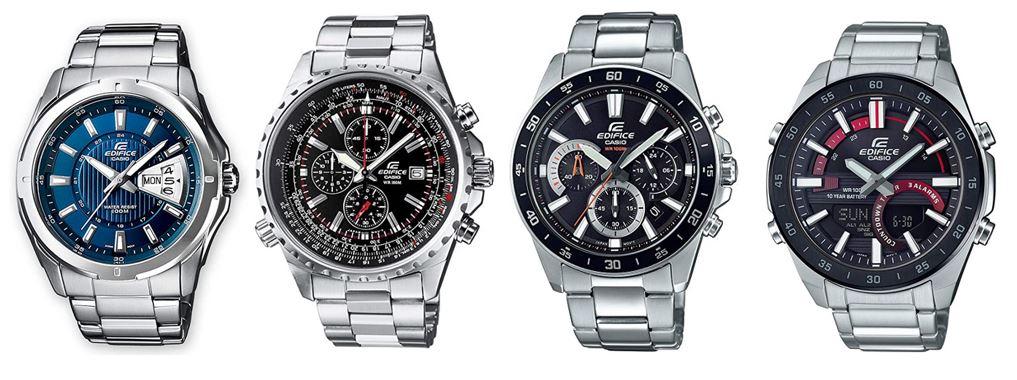 comparatif montres Casio Edifice pour homme