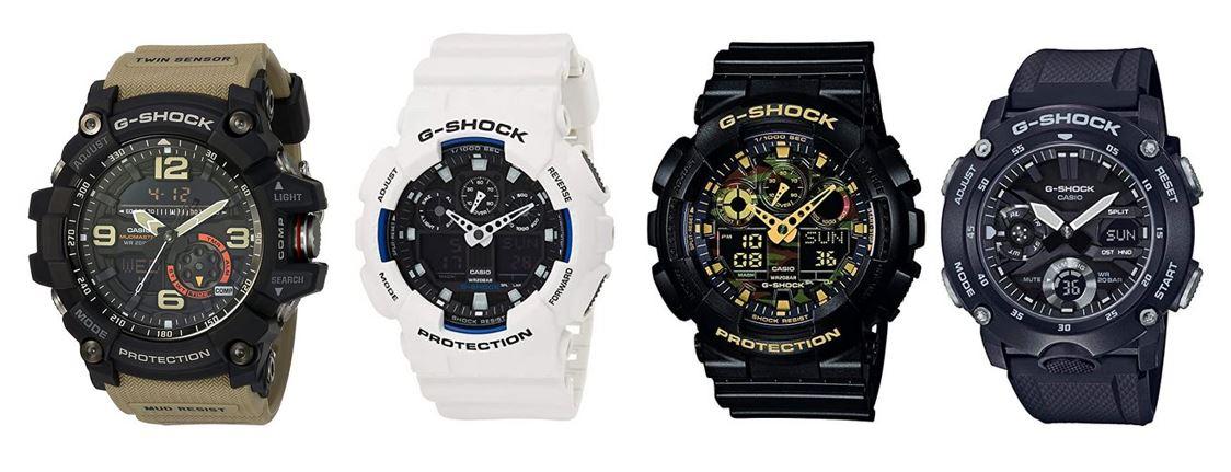 comparatif montres Casio G Shock pour homme