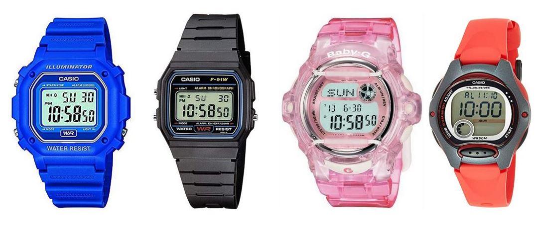 comparatif montres Casio pour enfant