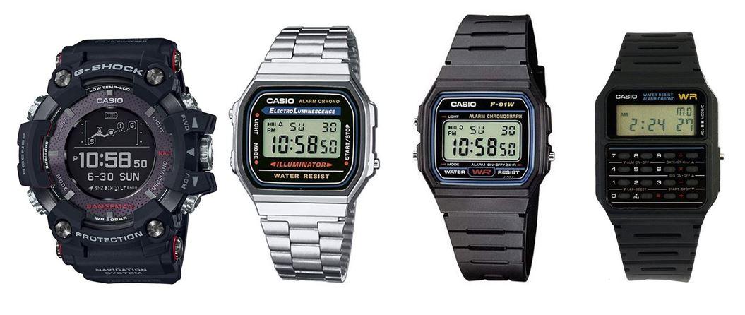 comparatif montres Casio pour homme