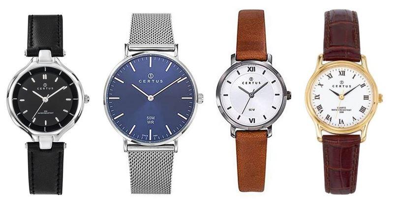 comparatif montres Certus pour femme