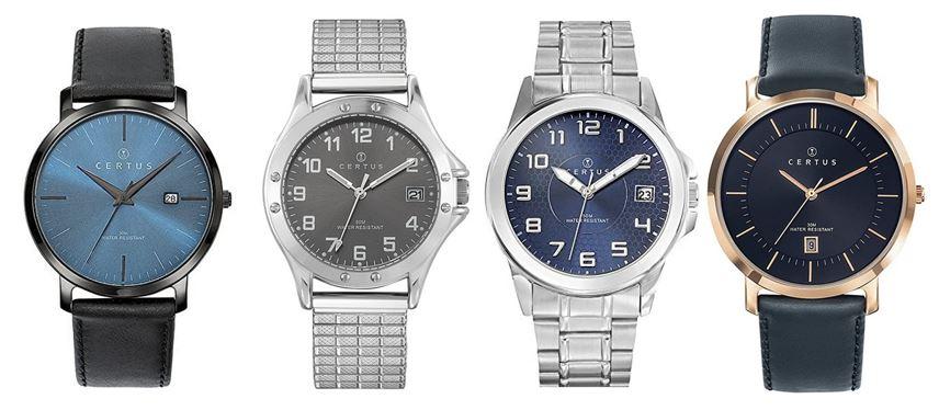 comparatif montres Certus pour homme