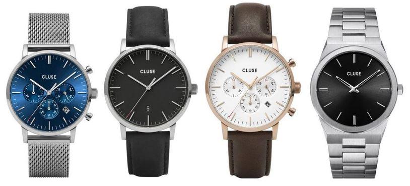 comparatif montres Cluse pour homme