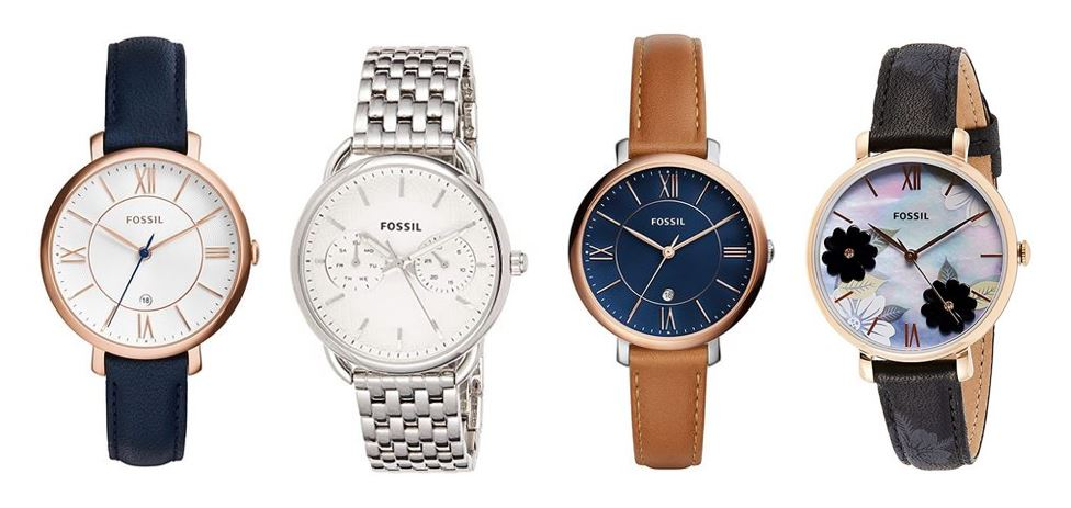 comparatif montres Fossil pour femme