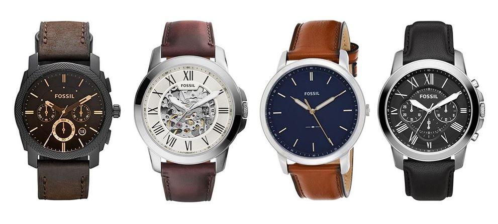 comparatif montres Fossil pour homme