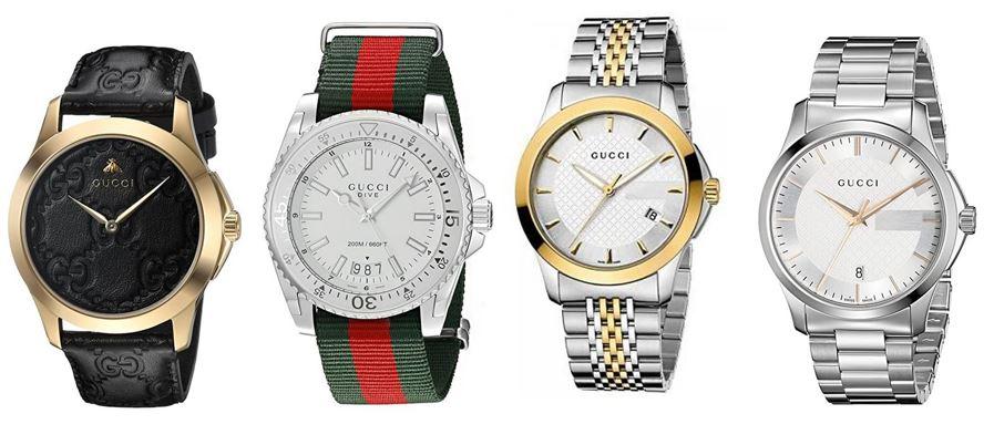 comparatif montres Gucci pour homme