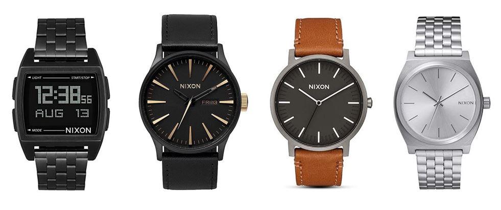 comparatif montres Nixon pour homme