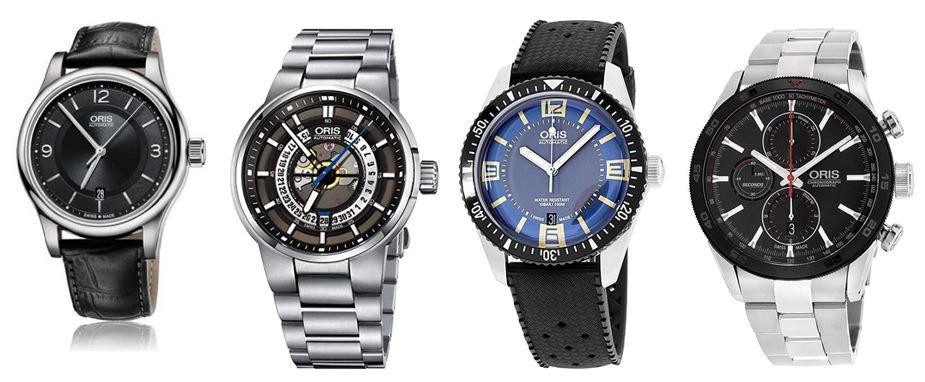 comparatif montres Oris pour homme