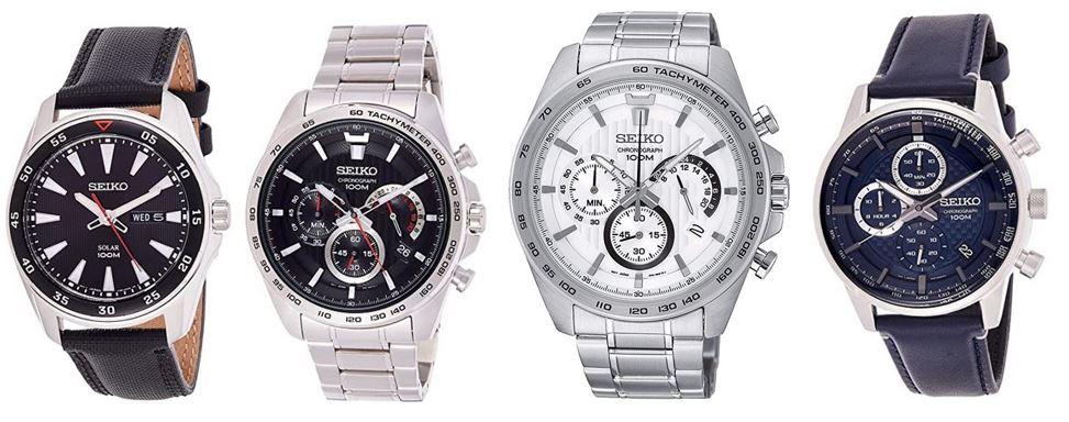 comparatif montres Seiko homme
