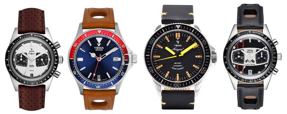 comparatif montres Yema pour homme