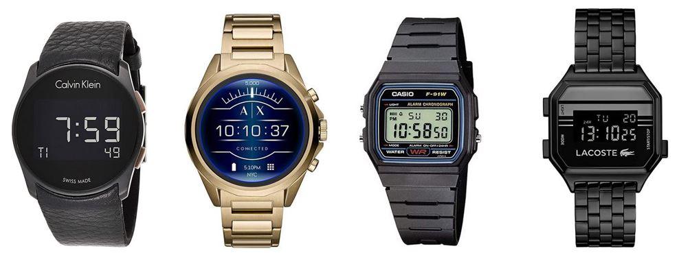 comparatif montres digitales pour homme