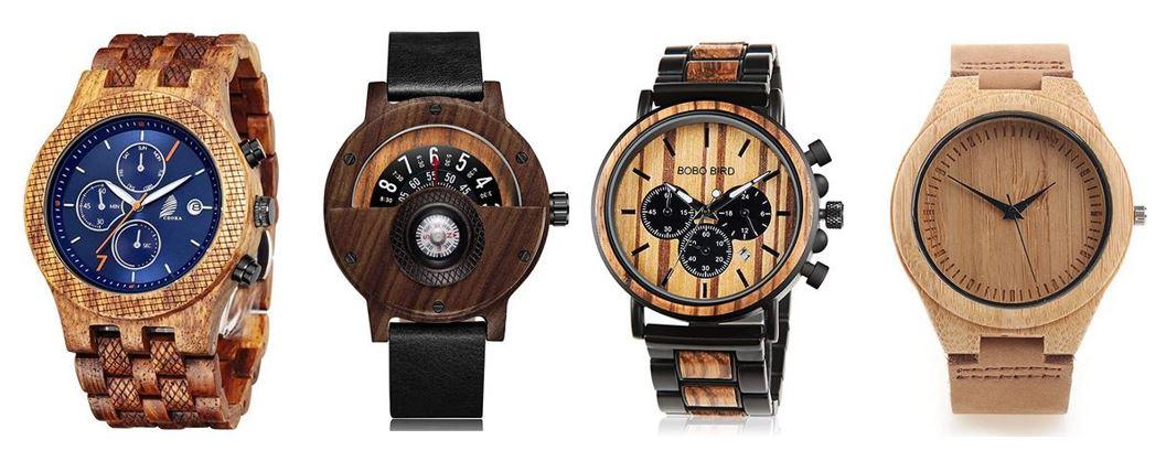 comparatif montres en bois pour homme