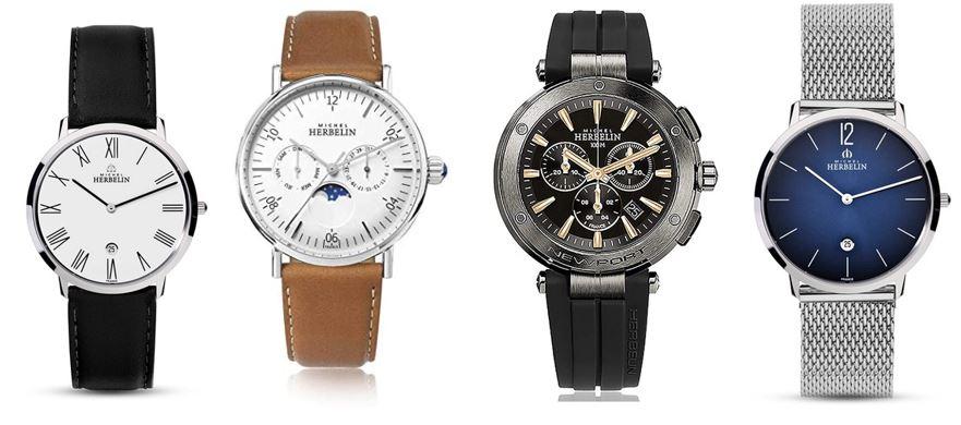 comparatif montres homme Michel Herbelin