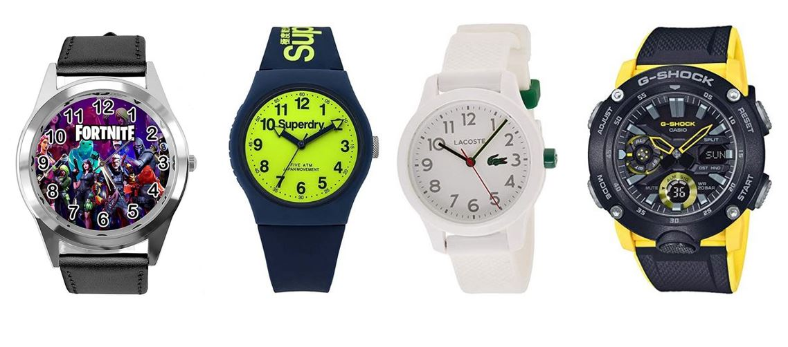 comparatif montres pour garcon adolescent