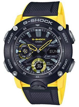 montre Casio G Shock noir et jaune pour homme et ados
