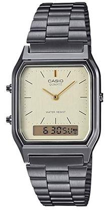 montre Casio pour femme a affichage digitale et analogique de style vintage