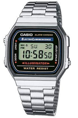 montre Casio pour homme en acier inoxydable modele digitalA168WA