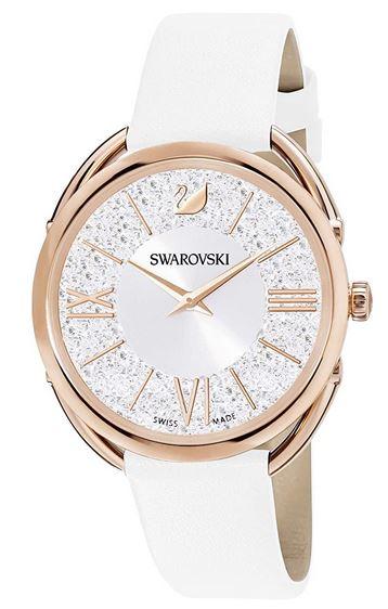 montre Crystalline Glam blanche et doree pour femme de la marque Swarovski