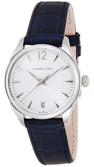 montre Hamilton analogique avec bracelet en cuir bleu