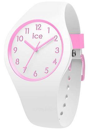 montre Ice Watch blanche et rose pour fille