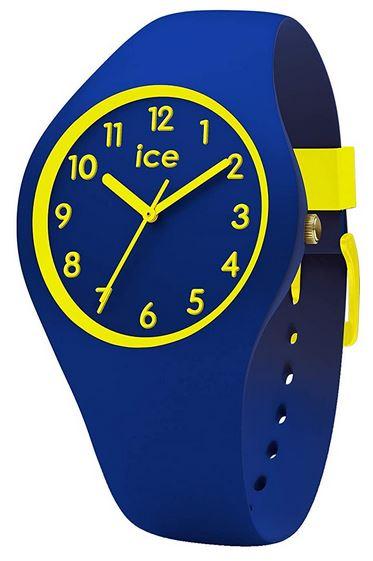 montre Ice Watch bleu et jaune pour garcon