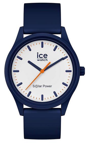 montre Icewatch bleue a energie solaire pour homme